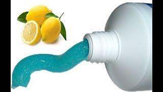 Si vous melangez du dentifrice avec du citron, il se passera quelques choses de fantastiques!