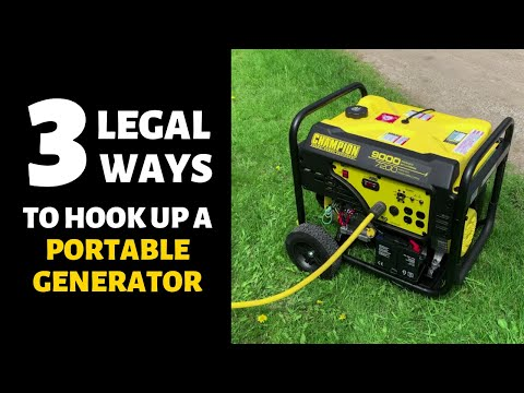 Choosing a Backup Generator Plus 3 LEGAL House Connection Options - Transfer Switch and More