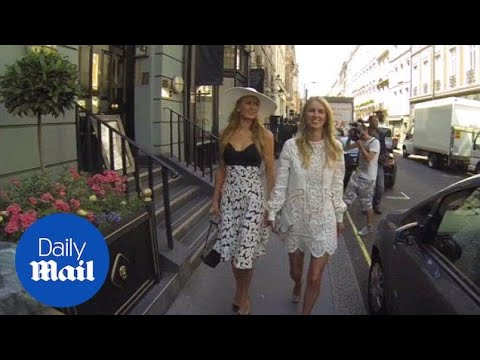 Paris and Nicky Hilton dine out in London before wedding - D