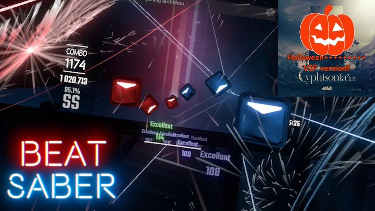 [Beat Saber] Camellia - GHOST (2020 Halloween+++++++++ VIP) 4-LANE | 94.88% SS Rank | 1 miss