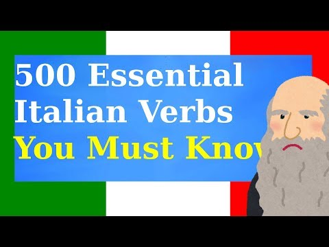 500 Essential Italian Verbs You Must Know!