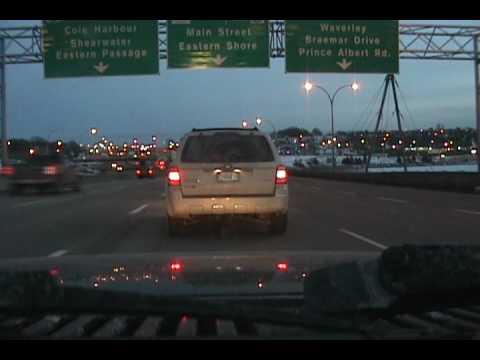 Driving Main Street During Rush Hour - Dartmouth, Nova Scotia