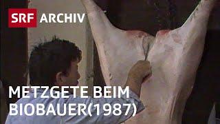 Haus-Metzgete auf Bio-Bauernhof (1987) | Artgerechte Tierhaltung | SRF Archiv