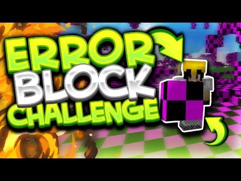 ERROR BLOCK CHALLENGE! HACKER! // Minecraft Survival Games