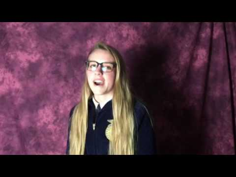 Abbie Greer's Ohio FFA Convention Student Reporter Video