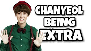 CHANYEOL BEING EXTRA 🐯