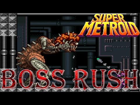 Super Metroid - Boss Rush (All Boss Fights, No Damage)