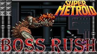 Super Metroid - Boss Rush (All Boss Fights, No Damage)