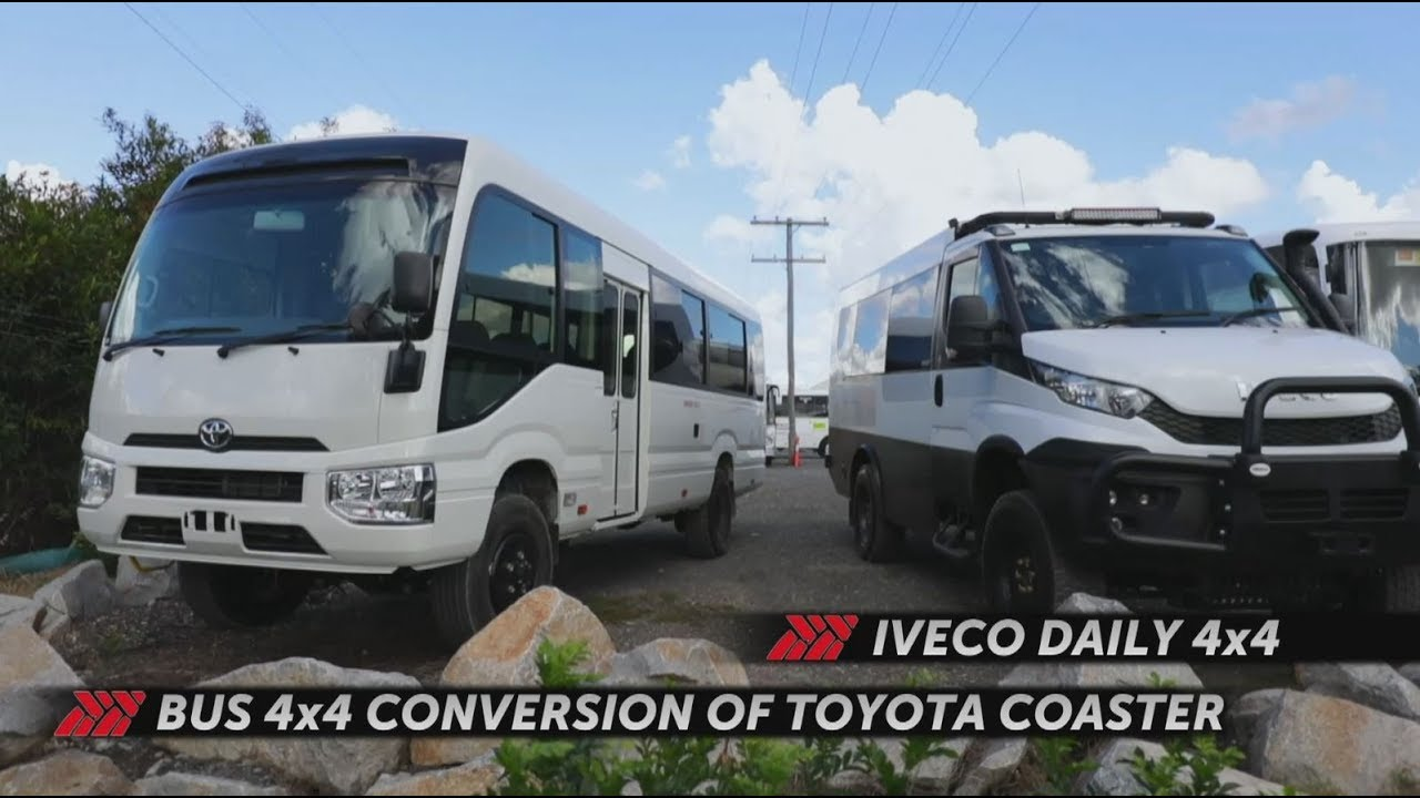Bus 4x4 4WD Tour Buses conversion of Coaster & Daily