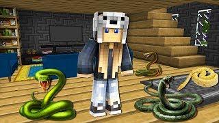 EVİMİ YILANLAR BASTI! 😱 - Minecraft