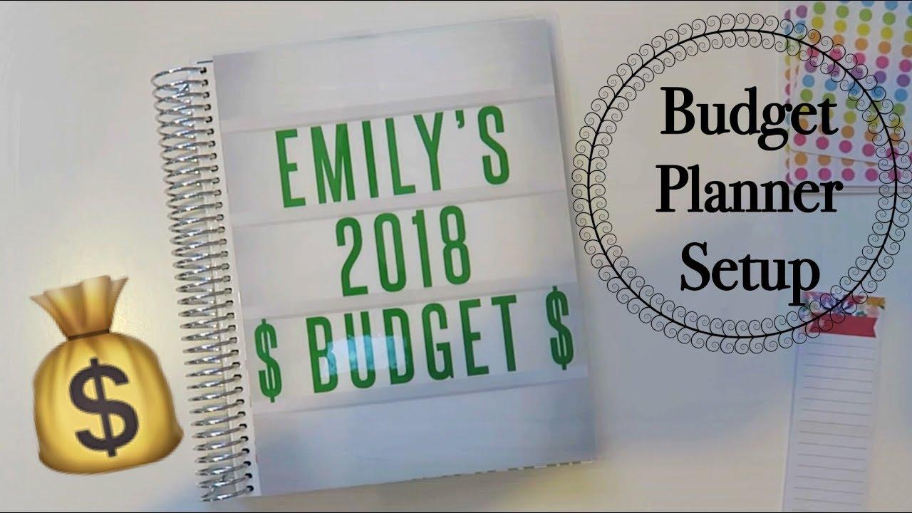 2018 budget planner setup youtube