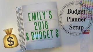 2018 Budget Planner Setup