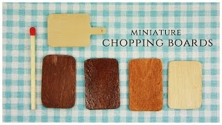 Miniature Chopping Boards Tutorial