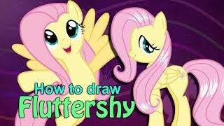 How to draw Fluttershy from My Little Pony!