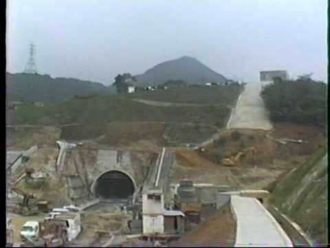 Hong Kong 1989 Route 5 tunnel construction