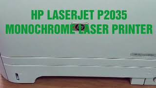 How to Print Self Test Pages - HP LaserJet P2035 Laser Printer CE461A