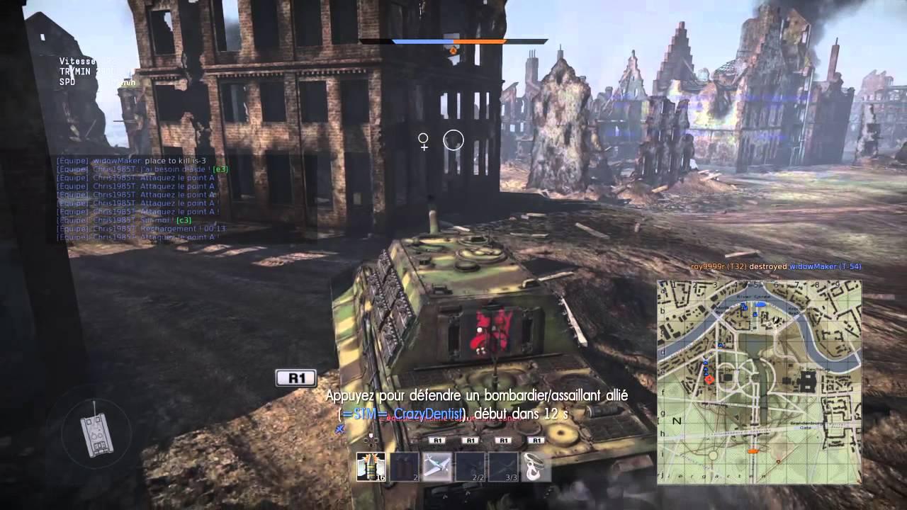 War Thunder tanks  JAGDTIGER dans  la mort viendra du ciel map