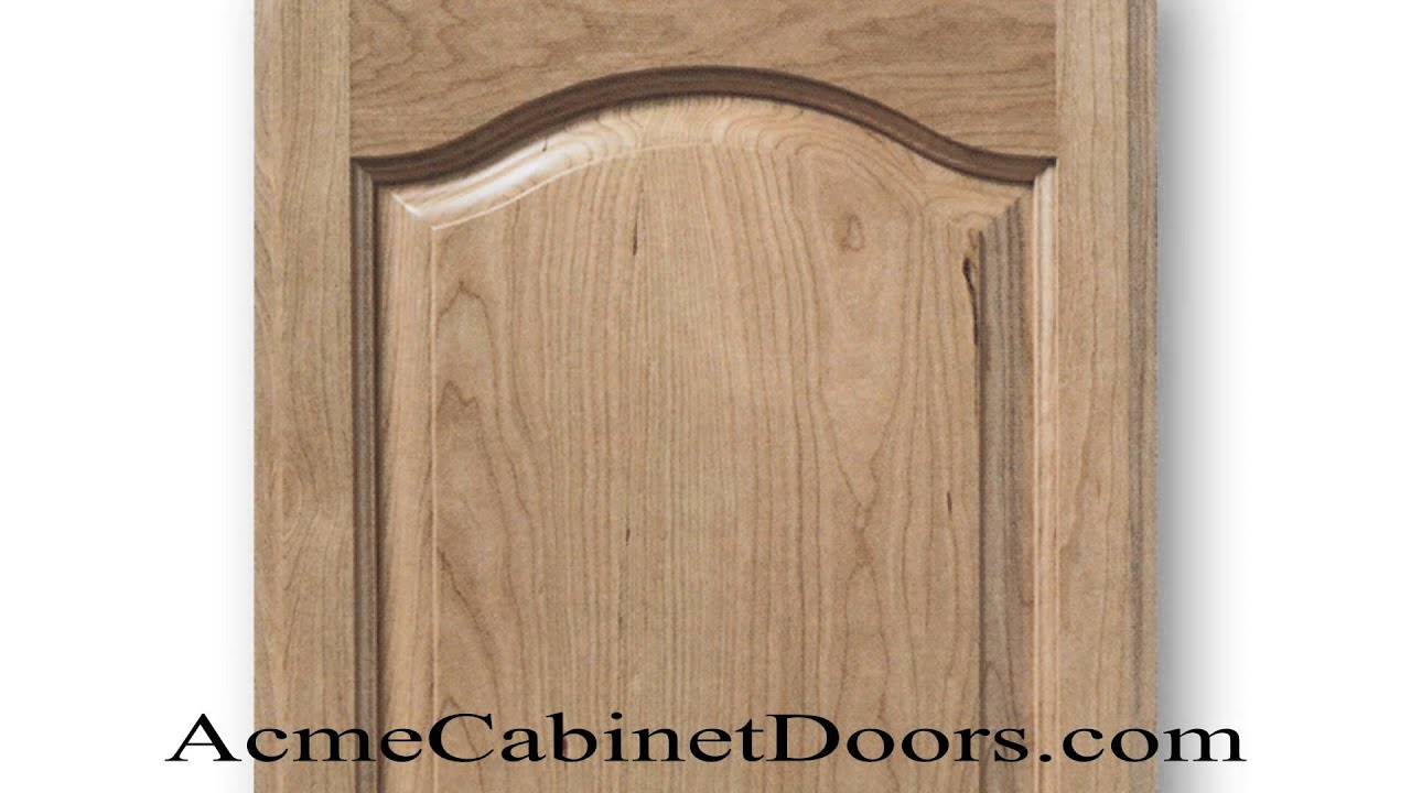 Unfinished Cherry Cathedral Arched Raised Panel Cabinet Door Youtube