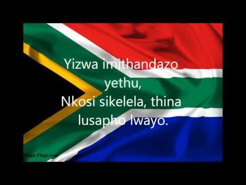 South African National Anthem with lyrics