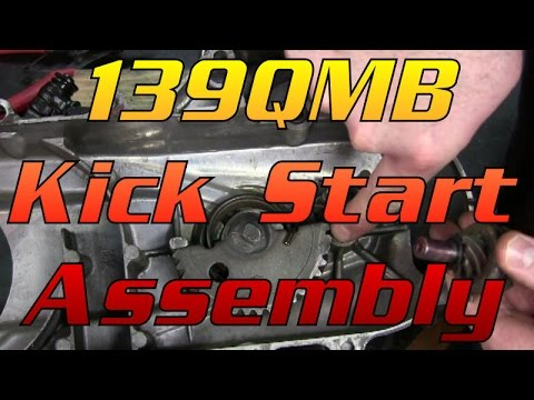 how to put together a chinese scooter's 49cc gy6 kick start