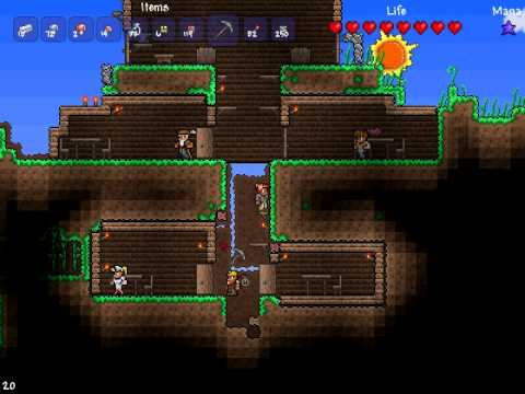 The best terraria house design youtube for Best house designs terraria