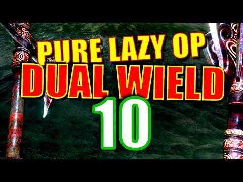 Skyrim Pure Lazy OP Dual Wield Walkthrough Part 10: Shootin' Fish in a Barrel thumbnail