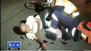 Ciclista estuvo a punto de morir al ser arrollado por un camión en la CA-5, Siguatepeque