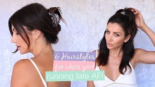 6 Easy Running Late Hairstyles with Oz Beauty Expert | Scunci