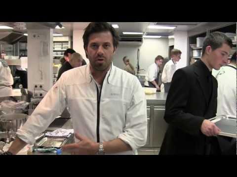 Sergio Herman prepares a dish at Oud Sluis