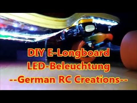 diy e skateboard led elektro longboard einbau led. Black Bedroom Furniture Sets. Home Design Ideas