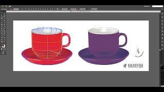 Drawing Mesh Tool in Illustrator // Сетчатый градиент в Иллюстраторе