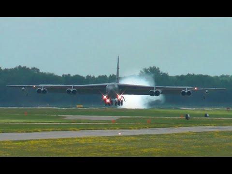 First Time B-52 Landing at Oshkosh - 17 July 2015