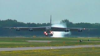 first time b 52 landing at oshkosh 17 july 2015