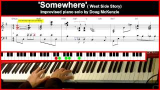 Video 'Somewhere' - (West side Story) - Jazz piano tutorial download MP3, 3GP, MP4, WEBM, AVI, FLV September 2018