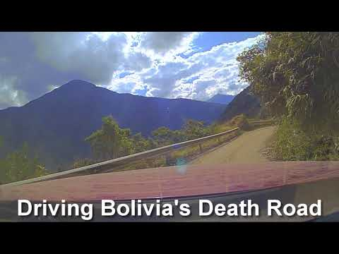 Driving Boliva's Death Road, Time-lapse dash-cam video of Bolivia's infamous North Yungas Road