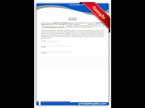 Free printable Bid Bond Forms