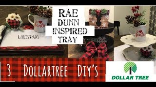 3 Different Dollartree Christmas Tray Ideas—Christmas DIYs