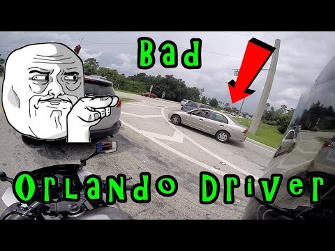 Terrible Driver! Idiot Bad Orlando, Florida Driver! WOW