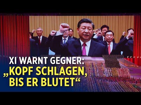 Chinas Staatschef Xi Jinping warnt ausländische Regierungen zum Jubiläum der KP Chinas