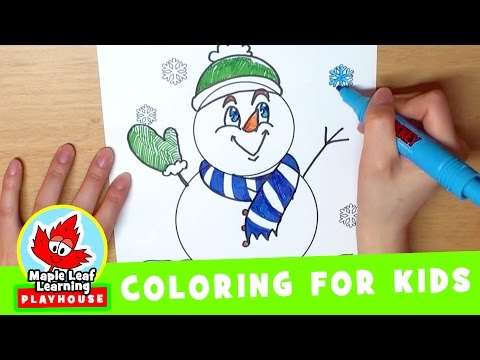 Snowman Coloring Page for Kids | Maple Leaf Learning Playhouse