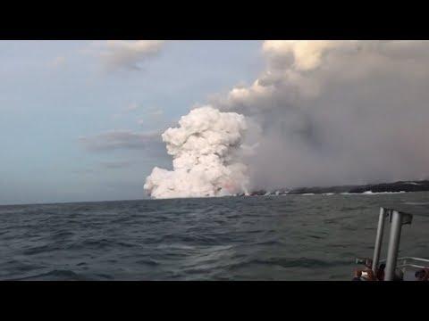 lava-bomb-&-debris-hits-tourist-boat-(lucky-escape)-(hawaii)---bbc-news---17th-july-2018
