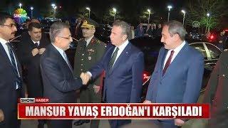Mansur Yavaş Erdoğan'ı karşıladı