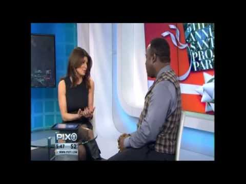 Isiah Whitlock Jr discusses UCP of NYC Santa Project Party with Tamsen Fadal on PIX 11