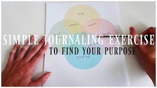 The Secret To Finding Your Purpose | Simple Journaling Exercise | Ikigai Concept