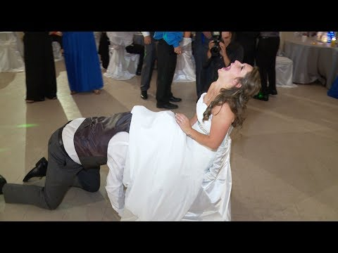 Bouquet Toss, Garter Removal & Garter Toss | Wedding Reception at Sandford Community Centre Uxbridge
