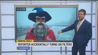 Digital Daily: Reporter accidentally turns on filters
