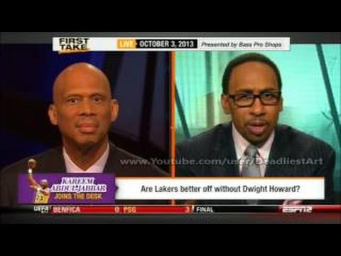 ESPN First Take Kareem Abdul Jabbar DEBATES Michael Jordan and Kobe Bryant