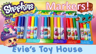 Crayola Coloring Shopkins Markers Set Review| Evies Toy House