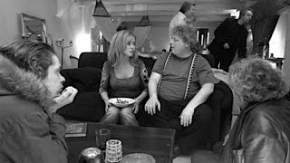 Theo van Gogh directs on set of THE INTERVIEW (2003)
