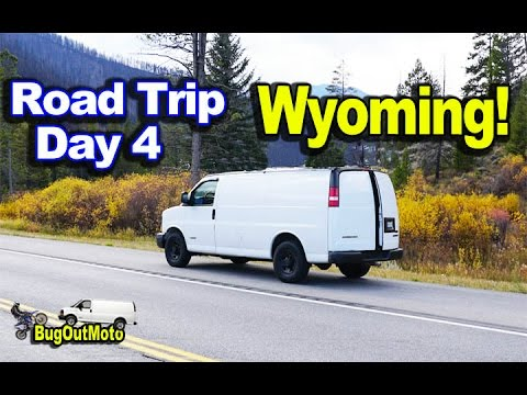 Stealth Camper Van Trip DAY 4 - Gone to Wyoming! Cooking Chili and Farting!